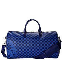 Sprayground Checkered Duffle - Blauw