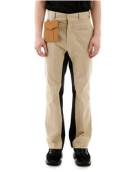 Palm Angels Trousers With Detachable Pocket - Naturel