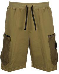 Stone Island - Mesh Pocket Shorts - Lyst