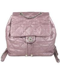 Chanel Vintage Gebrauchter Rucksack aus zeitlosem Lammleder - Pink