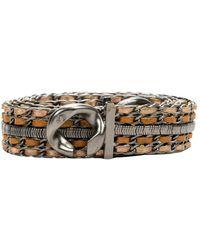 Chanel Vintage Cinturón de metal chanel de segunda mano - Gris