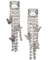 Emporio Armani Earrings Strass - Grijs