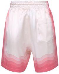 CASABLANCA Printed bermuda shorts Rosa