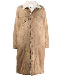 R13 Coat W8079d011a - Bruin