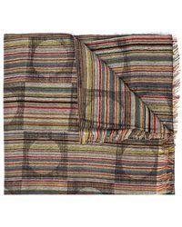 Paul Smith Striped Scarf - Bruin