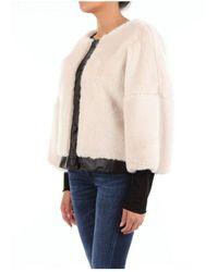 L'Autre Chose Oj580457070U Fur coat Beige - Neutro