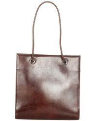 Cartier Sac fourre-tout en cuir panthere d'occasion - Marron