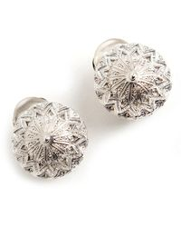 Christian Dior Vintage Button clip on earrings - Gris