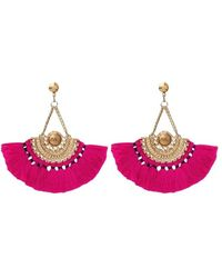 My Jewellery Boho Tassel Earrings - Rose
