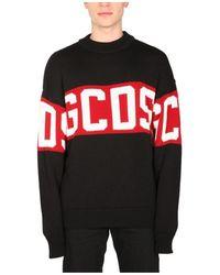 Gcds Sweater With Logo - Zwart
