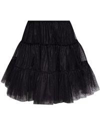 RED Valentino Tulle Skirt - Zwart