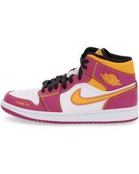 Nike Air Jordan 1 Mid Dod Sneakers - Roze