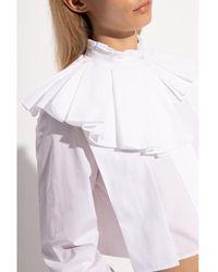Jil Sander Ruffled shirt Blanco