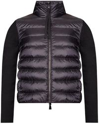 Moncler Down Jacket With Logo - Zwart