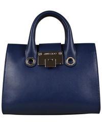 Jimmy Choo Mini Riley handbag - Bleu