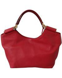 Dolce & Gabbana Sicily Leather Shopping Handbag - Rood