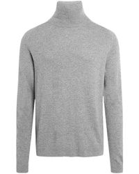 Knowledge Cotton Apparel Valley organic lambswool sweater - Gris