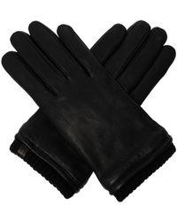 AllSaints 'vester' Leather Gloves - Zwart
