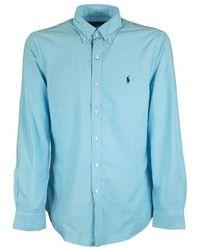 Ralph Lauren Slim Fit Oxford Shirt - Blauw