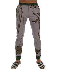 Dolce & Gabbana Print Pants - Grijs