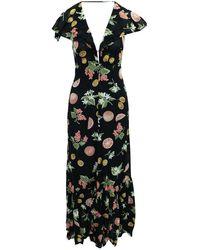 Moschino Priya Fruitcake Maxi Dress - Zwart