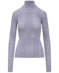 Givenchy Lace Sweater With Logo - Paars