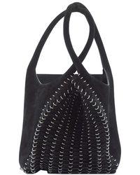 Paco Rabanne Suede Pliage Bucket Bag - Nero