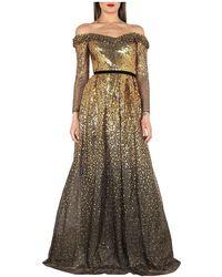 Marchesa Dress - Geel