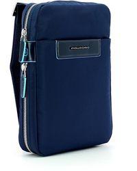 Piquadro Expandable Celion iPad Mini Bag Azul