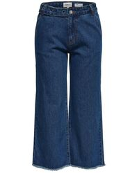 ONLY Onlaidan Mid Cropped Riem Flared Jeans - Blauw