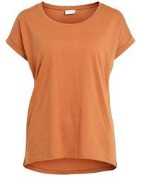 Vila T-shirt - Oranje