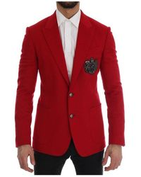 Dolce & Gabbana Slim Fit Blazer - Rood