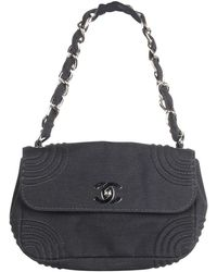 Chanel Small Mademoiselle Fabric Flap Bag - Zwart