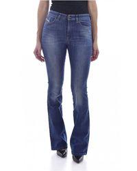 DIESEL Jean Flare Stretch Taille Haute - Blauw