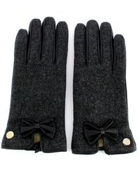 Guess Leather gloves with bow - Noir
