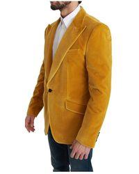 Dolce & Gabbana Fit Jacket Sicilia Blazer Amarillo