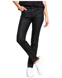 Off-White c/o Virgil Abloh Trini Skinny Coated Pants - Zwart