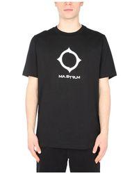 MA.STRUM T-Shirt With Logo - Noir
