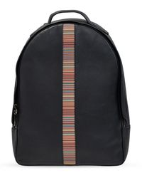 Paul Smith Backpack with logo - Negro