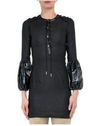 JW Anderson Mini Dress With Puff Sleeves - Zwart