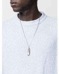 Ambush Feather charm necklace - Grigio