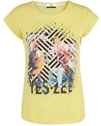 Yes-Zee T212-tl02 Short Sleeve T-shirt - Geel
