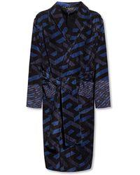 Versace Robe With Logo - Blauw