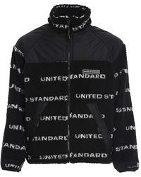 United Standard Fleece Logo Jacket - Zwart