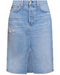 Rag & Bone High-waisted denim skirt - Blu