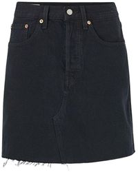 Levi's High-rise Deconstructed Skirt Skirt - Zwart