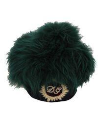 Dolce & Gabbana Logo Embroidered Cloche Hat - Groen
