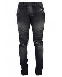 Balmain Biker Jeans - Zwart