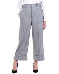 Dondup Dp473os0099dxxx Cropped Trousers - Grijs