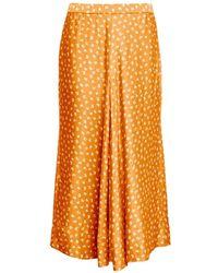 Rodebjer Skirt Tyle Paisley - Oranje